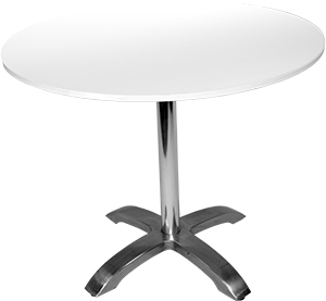Round Cafe Table U2013 White