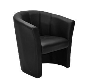 black leather tub chair tub chair leather black exhibitions expo conferences 11259 | Leather Tub Chair Black 2