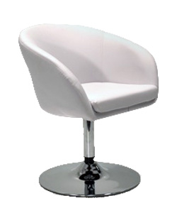 Tub Chair Leather U2013 White